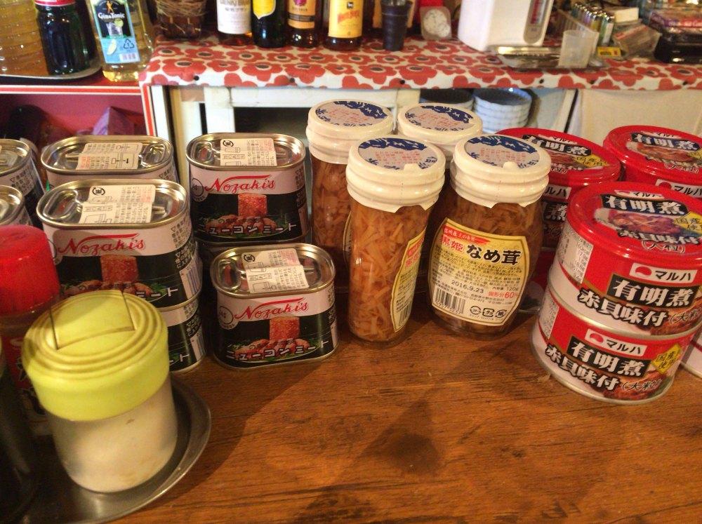 ドリンクスタンド小島缶詰ラインナップ