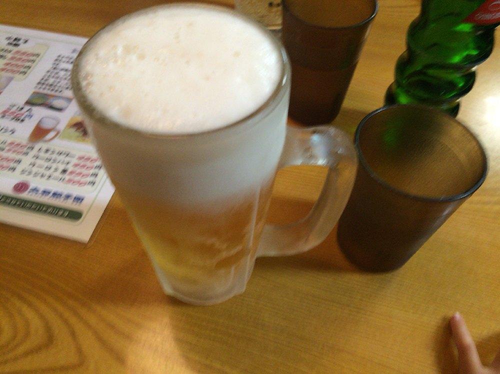 大石餃子団自由ヶ丘ビール550円