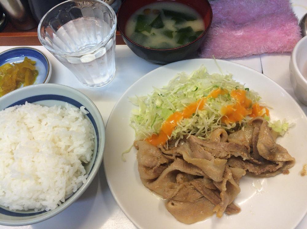 生姜焼き定食500円